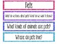 Pets Study Questions of the Week and Word Wall
