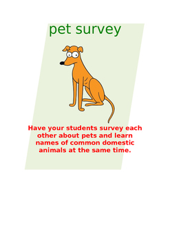 Pets Survey FRENCH