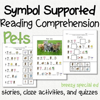 Pets - Symbol Supported Reading Comprehension for Special Ed