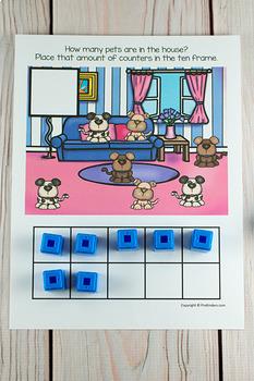 Pets Ten Frame Game  (Pre-K + K Math)