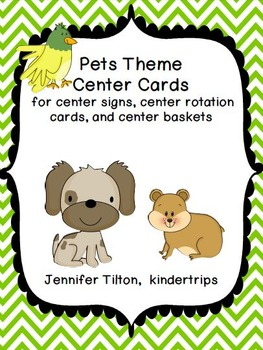 Pets Theme Center Signs