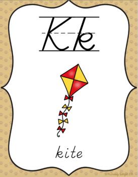 Alphabet Posters (Pet-Theme Classroom  Decor)