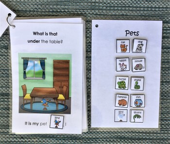 Pets Under the Table! Interactive Mini-Book Autism Support