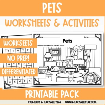 Pets- Vocabulary Pack