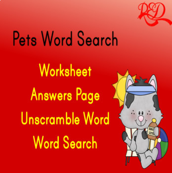 Pets Word Search