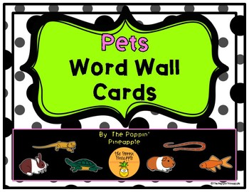 Pets Word Wall Cards