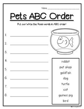 Pets Write the Room