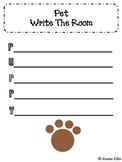 Pets Writing Center Activity