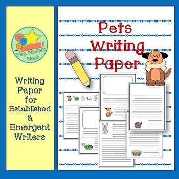 Writing Paper Templates - Pets Theme