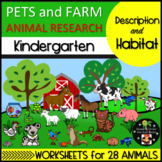 Pets and Farm Animal Research Description and Habitat Kindergarten