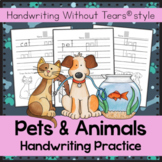 Pets and Animals themed Handwriting Without Tears - Pets Unit - Pets Activities