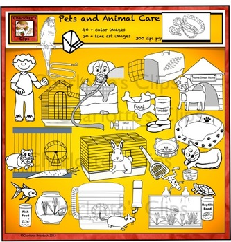 Animals - Pet Care and Habitat Clip Art by Charlotte's Clips