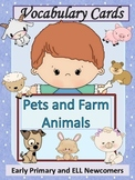 ESL Activities: Vocabulary+Conversation Cards-Pets and Farm Animals