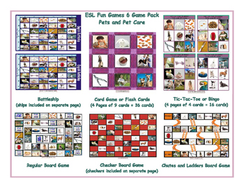 Pets and Pet Care 6 Board Game Bundle