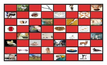 Pets and Pet Care Legal Size Photo Checkerboard Game