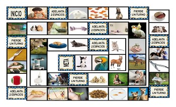 Pets and Pet Care Spanish Legal Size Photo Board Game