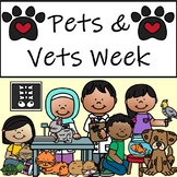 Pets and Vets Week - Dramatic Play, Literary Centers,  Colouring Pages and More!