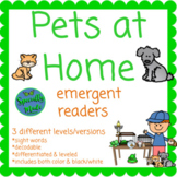 Pets at Home emergent readers 3 different levels decodable
