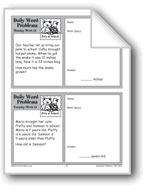 Pets at School (Grade 2 Daily Word Problems-Week 13)