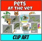 Pets at the Vet Clip Art