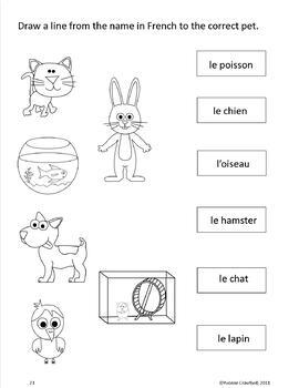 animals activities and games in french les animaux en fran ais. Black Bedroom Furniture Sets. Home Design Ideas