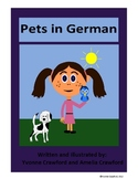 Pets in German - vocabulary sheets, printables, matching & bingo games