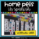 Pets in Spanish Word Wall - Las Mascotas