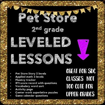 Leveled Lessons Pet unit 2nd RSP/SDC friendly. #halfprice