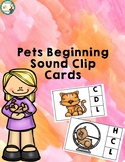 Pets theme Beginning Sound clip cards