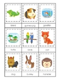 Pets themed 3 Part Matching Game.  Printable Preschool Game