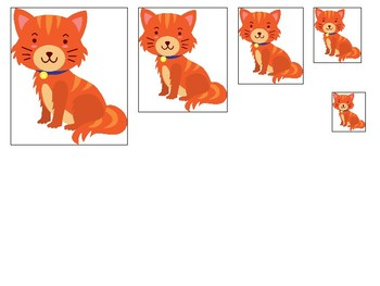 Pets themed Size Sequence. Printable Preschool Game