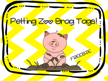 Petting Zoo Brag Tags Freebie