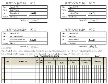 Petty Cash With Cash Short & Over Replenishment Practice