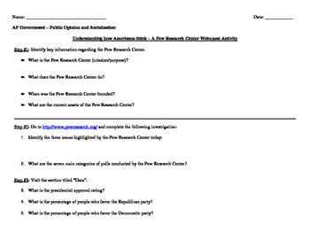 Pew Research Center Webquest