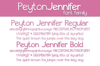 Peyton Jennifer Font Family for Commercial Use