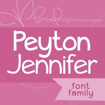 Peyton Jennifer Font Family for Commercial Use