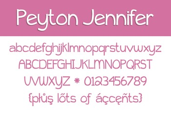 Peyton Jennifer Font for Commercial Use