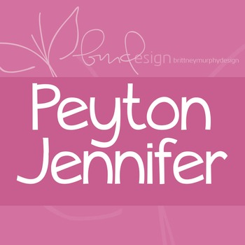 Peyton Jennifer Font for Commercial Use
