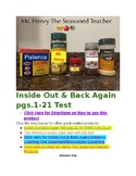 Inside Out Back Again PARCC Aligned Test Pgs.1-21