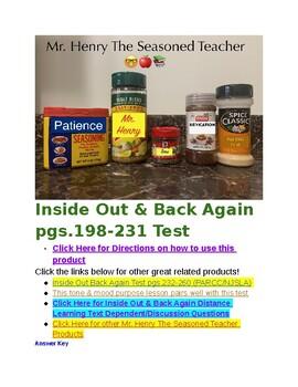 Inside Out Back Again PARCC Aligned Test Pgs. 198-231