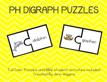 Ph Digraph Puzzles - 12 Puzzles Plus Follow Up Activities
