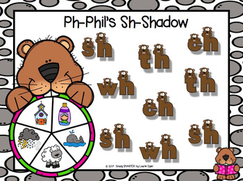 Ph-Phil's Sh-Shadow:  NO PREP Groundhog Day Themed Digraph Spin Game