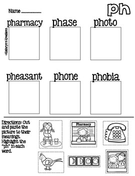 Ph Words: Picture Sort
