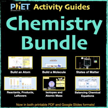 PhET Activity Guides Chemistry BUNDLE