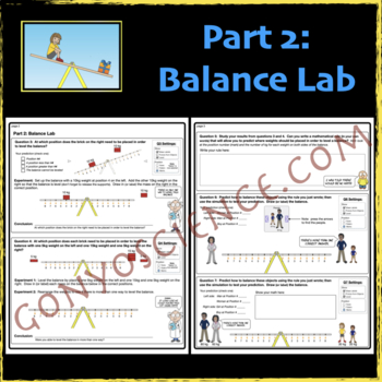 phet balancing act activity guide - Balancing Act Worksheet