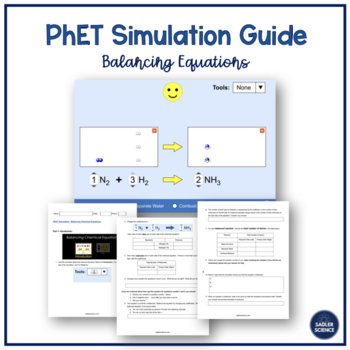 PhET Balancing Equation Simulation for Google Docs/Google Classroom (NGSS)