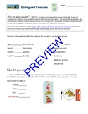 "PhET ""Eating and Exercise"" activity guide"
