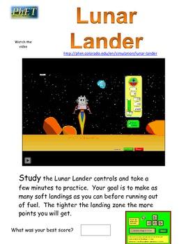 PhET Lunar Lander activity guide