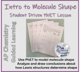 PhET Molecular Shape Guided Activity for AP Chemistry LO 2.21
