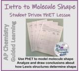 PhET Molecular Shape Guided Activity for AP Chemistry LO 2.21